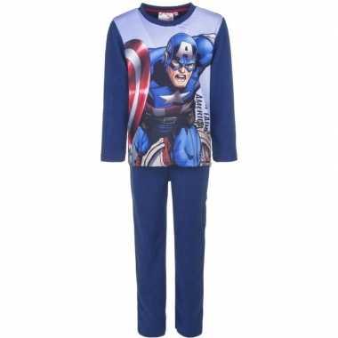 Avengers fleece pyjama blauw jongens huispak