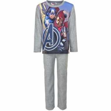 Avengers fleece pyjama grijs jongens huispak