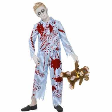 Bebloede zombie outift jongens huispak