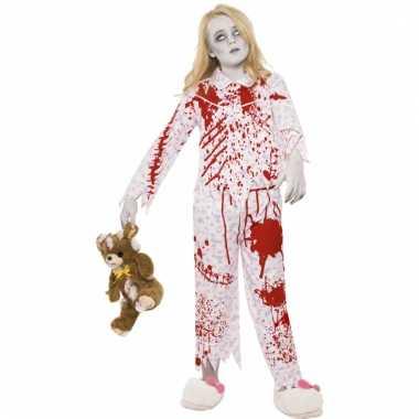 Bebloede zombie outift meisjes huispak