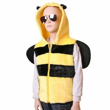 Bijen vestje capuchon kinderen huispak