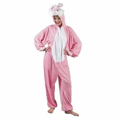 Canaval onesie konijn dames huispak