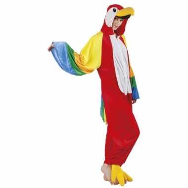 Canaval onesie papegaai dames huispak