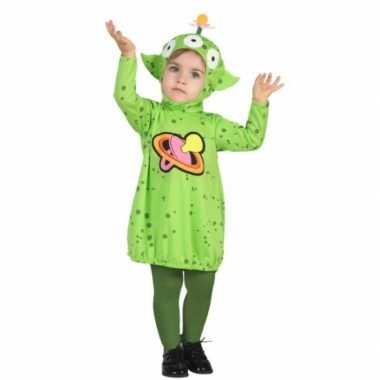 Carnaval aliens kostuum peuters huispak
