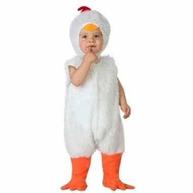 Carnaval kippen kostuum peuters huispak