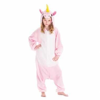 Dierenpak eenhoorn pinky onesie verkleed kostuum kinderen huispak