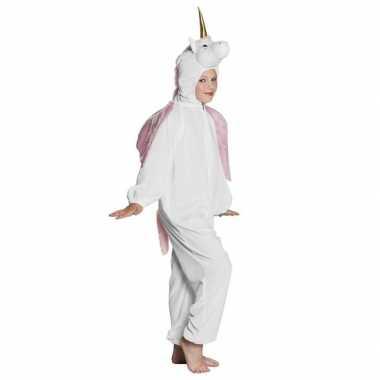 Eenhoorn dieren onesie/kostuum kinderen wit huispak