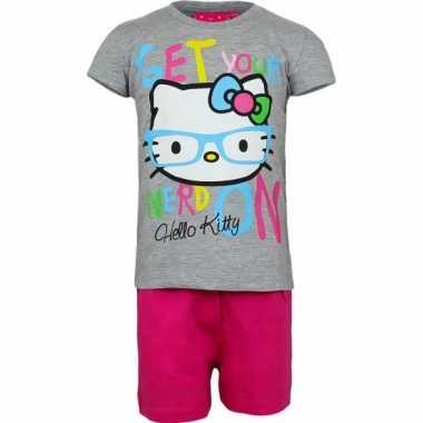 Grijze Hello Kitty pyjama kort huispak