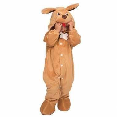 Hond dieren onesie/kostuum babys bruin huispak