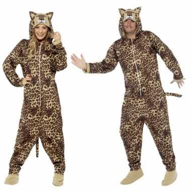 Jumpsuit luipaard all-one volwassenen huispak