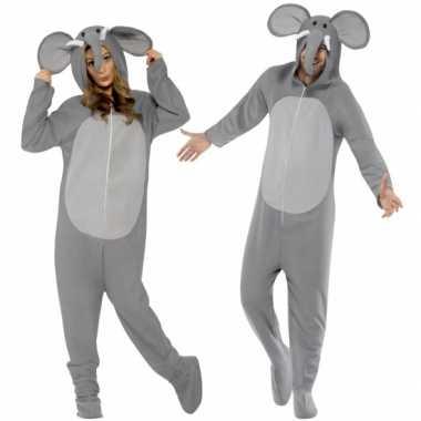Jumpsuit olifant all-one volwassenen huispak