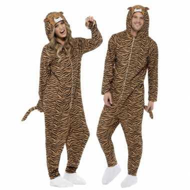 Jumpsuit tijger all-one volwassenen huispak