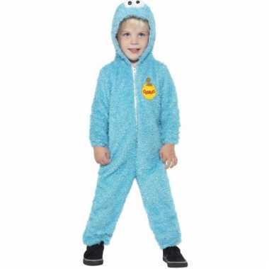 Koekiemonster jumpsuit blue kids huispak