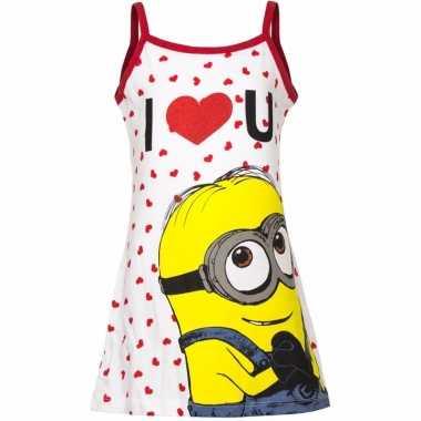 Minions jurk pyjama wit/rood meisjes huispak
