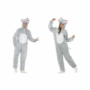 Olifant onesie kostuum volwassenen huispak