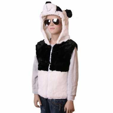 Panda vestje capuchon kinderen huispak