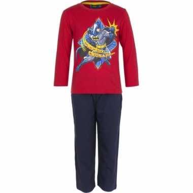 Pyjama Batman rood huispak