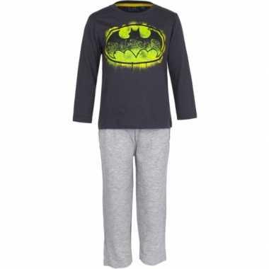 Pyjama Batman zwart logo huispak
