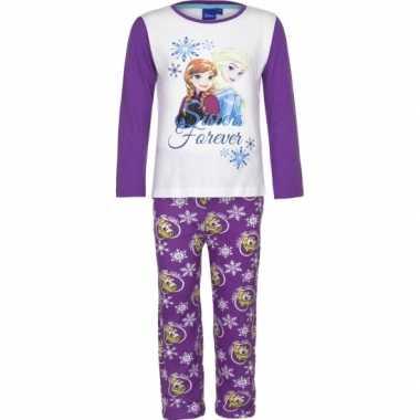 Pyjama frozen elsa anna paars huispak