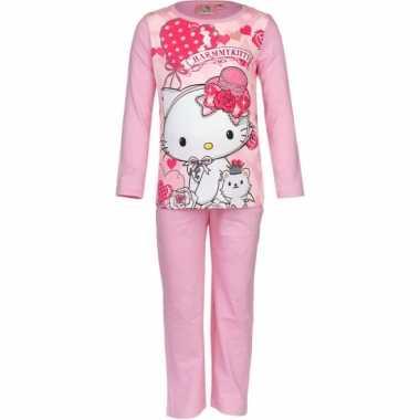 Pyjama hello kitty licht roze huispak