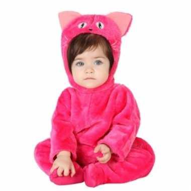 Roze kat dierenkostuum babys huispak