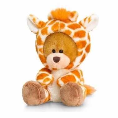 Zittende beer giraffe onesie 14cm huispak