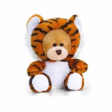 Zittende beer tijger onesie 14cm huispak