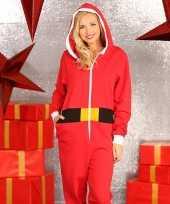 Foute kerstmannen pak onesie dames huispak