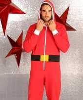 Foute kerstmannen pak onesie heren huispak