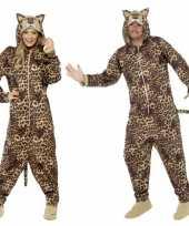Jumpsuit luipaard all one volwassenen huispak