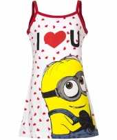 Minions jurk pyjama wit rood meisjes huispak